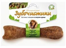 Лакомство для собак Зубочистики Косточка с кальцием, курица для средних пород