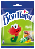 Мармелад Бон Пари Кислые червячки ассорти 75 г
