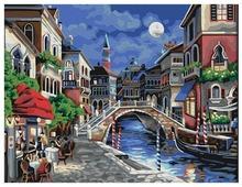"Мосфа Картина по номерам ""Ночная Венеция"" 40х50 см (7С-0018)"