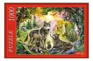 Пазл Рыжий кот Семья волков (МГ1000-7369), 1000 дет.