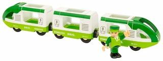 """Brio Поездной состав """"Зеленый поезд для путешествий с машинистом"""", 33622"""