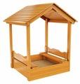 Песочница IgraGrad с деревянной крышей