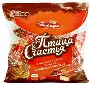 Конфеты Победа вкуса Птица счастья вафельные с начинкой из тертого миндаля в сливочном шоколаде