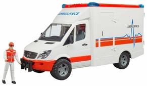 Фургон Bruder MB Sprinter (02-536) с фигуркой водителя 1:16