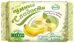 Пастила Умные сладости со вкусом банана, со стевией 160 г