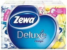 Платочки Zewa Deluxe Design бумажные носовые, 3 слоя