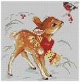 Алиса Набор для вышивания крестиком Олененок 14 х 14 см (0-100)