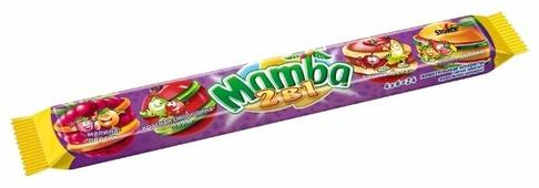 Жевательная конфета Mamba 2 в 1 106 г