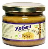 Vegan food Урбеч из семян золотого льна