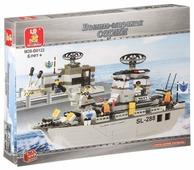 Конструктор SLUBAN Военно-морская серия M38-B0122 Coast Guard Frigate