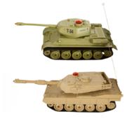 Набор техники Пламенный мотор Танковый бой Т34 - Abrams M1A2 (870236) 1:32 22 см