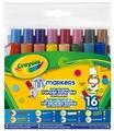Crayola Мини-фломастеры с фигурными наконечниками 16 шт. (58-8709)