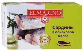 ELMARINO Сардины в оливковом масле, 125 г
