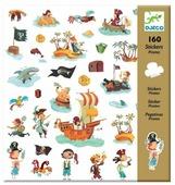DJECO Наклейки Пираты, 160 шт. (08839)