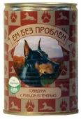 Корм для собак Ем Без Проблем Консервы для собак Говядина с рубцом и печенью