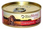 Корм для собак BioMenu Puppy консервы для щенков с говядиной