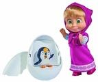 Кукла Simba Маша и медведь Маша с пингвиненком в яйце, 12 см, 9301003