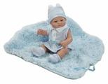 Пупс Munecas Berbesa новорожденный с пледом, 27 см, 2504А