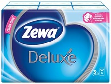 Платочки Zewa Deluxe бумажные носовые, 3 слоя 21 х 21 см