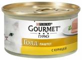 Консервы GOURMET GOLD для кошек паштет Курица 85гр