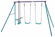 Plum Качели подвесные для троих с опорой