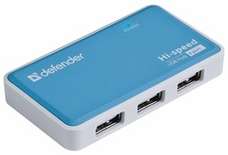 USB-концентратор Defender Quadro Power (83503), разъемов: 4