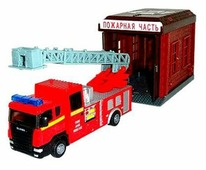 Autotime (Autogrand) Игровой набор Scania Пожарная станция с гаражом 34439