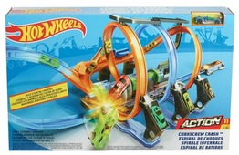 Трек Hot Wheels Corkscrew Crash FTB65