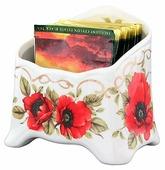 """Подставка для чайных пакетиков Elan gallery """"Маки"""" 10,5*7*10 см. 280 мл."""