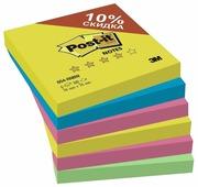 Post-it Блок-кубик Радуга Плюс, 76х76 мм, 4 цвета, 600 штук (654-RNBW)