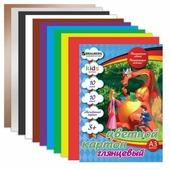 Цветной картон Дракон и дети BRAUBERG, A3, 10 л., 10 цв.