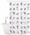 Штора для ванной Tatkraft Funny Cats 14022 180x180