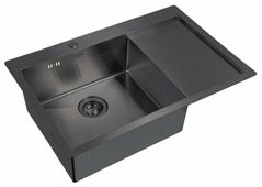 Врезная кухонная мойка ZorG PVD 7851 GRAFIT 78х51см нержавеющая сталь