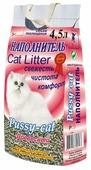 PUSSY CAT Наполнитель Pussy-Cat древесный 4,5л