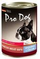 Корм для собак Pro Dog Для собак индейка с рисом консервы