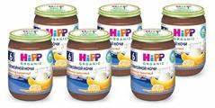 Каша HiPP Спокойной ночи молочный десерт пшеничный с бананом (с 6 месяцев) 190 г, 6 шт.