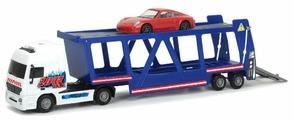 Набор машин Dickie Toys Трейлер автовоз + машинка Porsche (3747004) 1:43