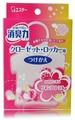 Shoushuuriki Запасной блок освежителя воздуха для шкафов на основе желе-сенсора с цветочным ароматом 32 г