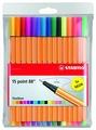 STABILO набор капиллярных ручек Point 88 15 цветов, 0.4 мм (8815-1)