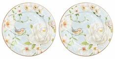 Elan gallery Набор десертных тарелок Дикая роза 19 см, 2 шт