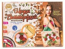 Лапландия Набор для вышивания лентами и бисером Мадам Баттерфляй Розы (сумка) 18485