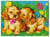 "Color Kit Картина по номерам ""Щенки на поляне"" 30х40 см (CE010)"