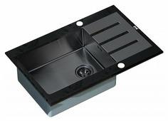 Врезная кухонная мойка ZorG GL-7851-BLACK-GRAFIT 78х51см нержавеющая сталь