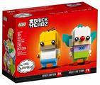 Конструктор LEGO BrickHeadz 41632 Гомер Симпсон и клоун Красти