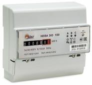 Счетчик электроэнергии трехфазный однотарифный Тайпит НЕВА 303 1S0 230V 5(100) А 5(100) А