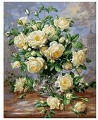 """Белоснежка Картина по номерам """"Белые розы"""" 40х50 см (373-AB)"""