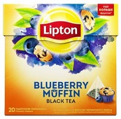 Чай черный Lipton Blueberry Muffin в пирамидках