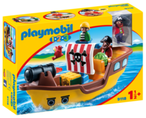 Набор с элементами конструктора Playmobil 1-2-3 9118 Пиратский корабль