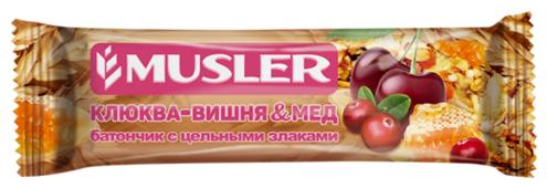 Злаковый батончик Musler Клюква-вишня и мед, 30 г