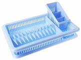 """Сушилка для посуды Plastic Centre """"Лилия"""" с сушилкой для столовых приборов"""